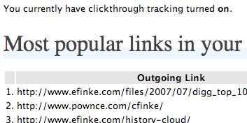 Track clickthroughs on links in your feed