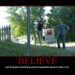 Motivational Poster: BELIEVE