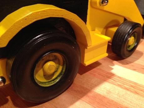 Backhoe wheels