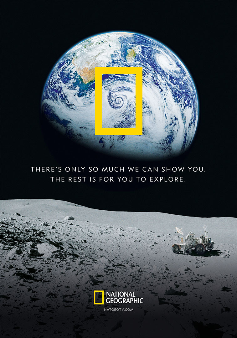 National Geographic magazine ad in English