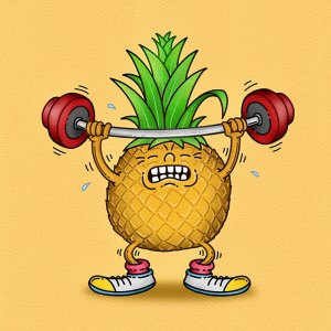 Weightlifting Pineapple