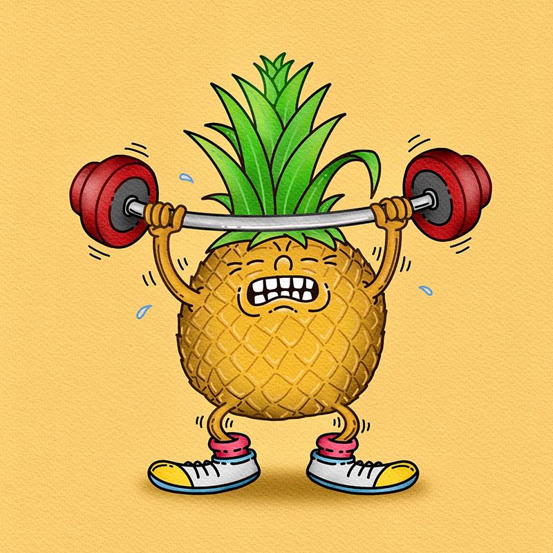 Weightlifting Pineapple