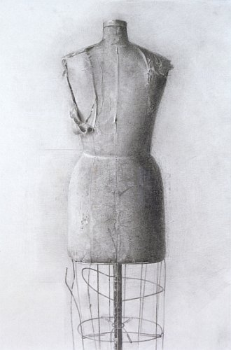 Christopher Gallego, American, b. 1959, 1998, Charcoal and graphite on paper, 17 x 13.5 in., Sold