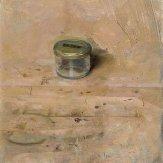 Christopher Gallego, american, b. 1959. painting title: Small Studio Jar