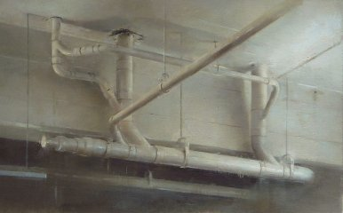 Ceiling Pipes, 2012 Oil on linen, 14 x 23 in.