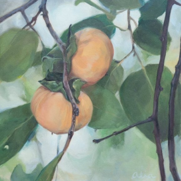 Christopher Gallego Blog: 7 Tips to Jolt You Right Out of Your Artistic Rut-Featured Artist Alia El-Bermani: Persimmon
