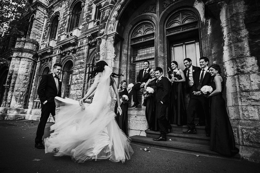 Melbourne Wedding in Black and White