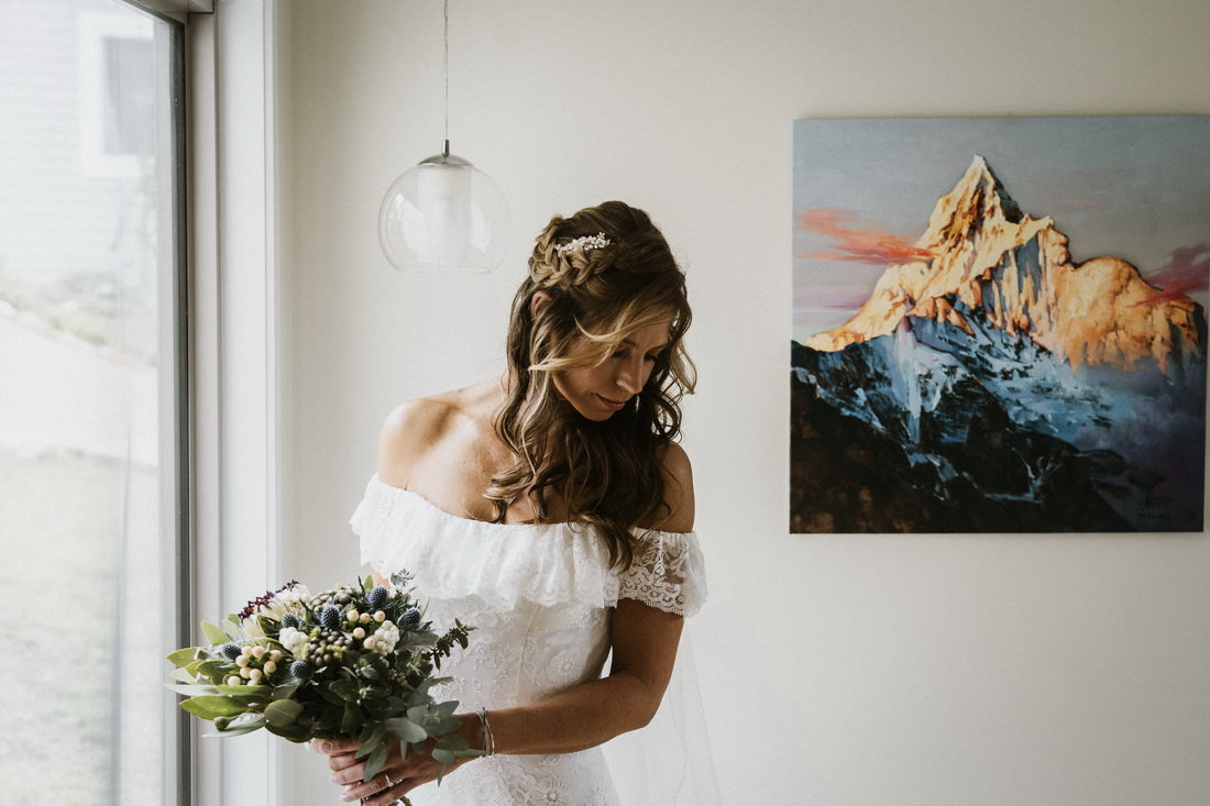 Beautiful portrait of a bride by Bright Wedding Photographer