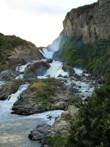 Waterfall on the Rio Ibanez just outside of Puerto Ibanez, Chile