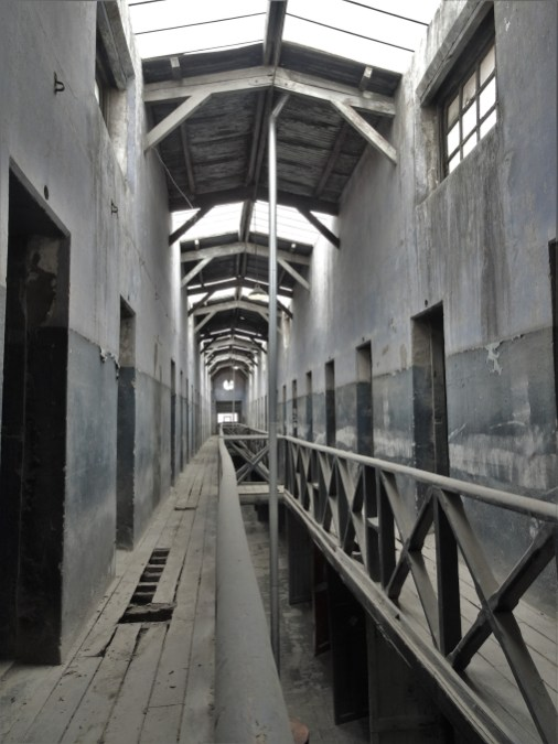 One of the still derelict wings of the Ushuaia prison