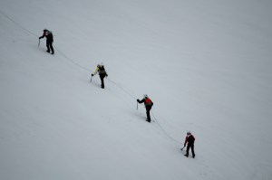 Some pretty extreme mountain climbing for beginners