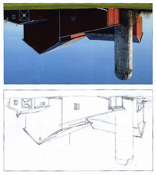 Upside-Down drawing example.