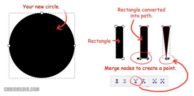 Setting up circular pointed beta burst