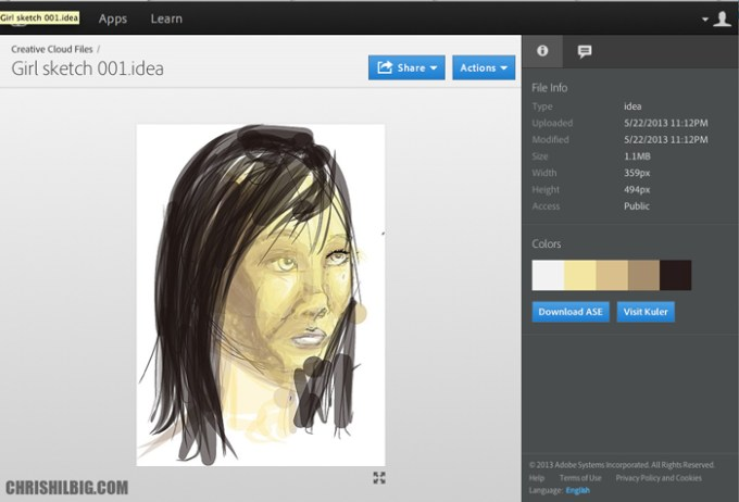 My Idea image on Adobe's Creative Cloud website.