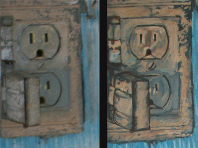 A comparison of the wall socket