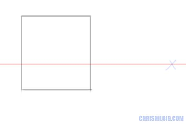 Step 2: Draw a square. This will be the front face of your cube.