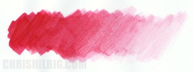 gradation of Carmine using Winsor & Newton Pigment Marker's Colourless Blender on marker paper