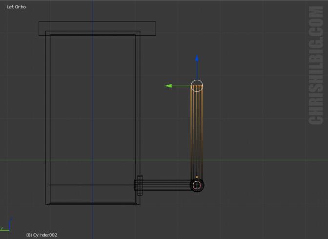 A screen shot of modeling in Blender 3D.