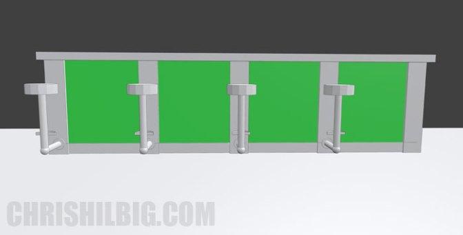 The final render of bar from Blender 3D