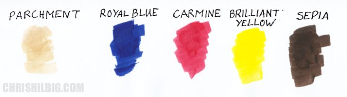 Pigment Marker swatches
