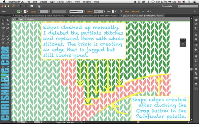 Edges cleaned up in Illustrator.