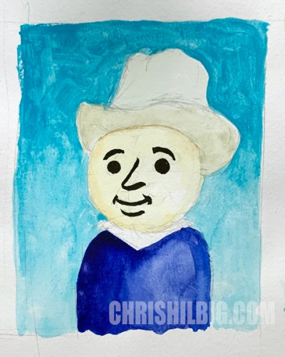 Original thumbnail of little van gogh painting, done in watercolors.