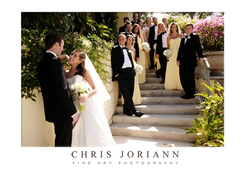bridal party stairs