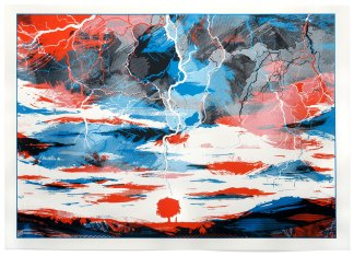 full When Lightning Strikes screen print image