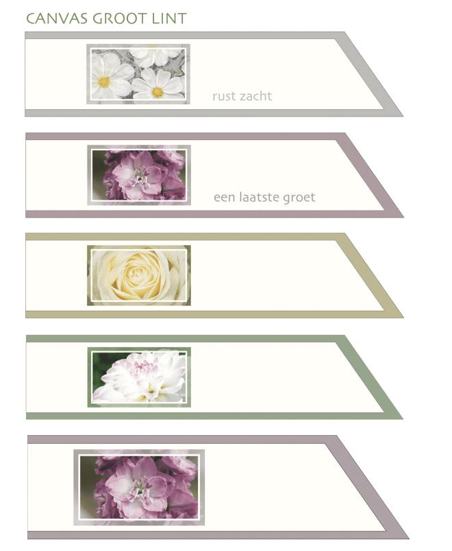 Canvas - Condoleance kaarten en linten