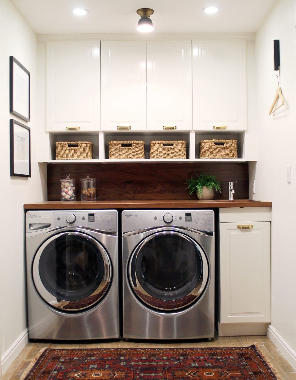Before and After: A Bathroom Turned Laundry Room - Chris ... on Laundry Cabinets Ideas  id=85835