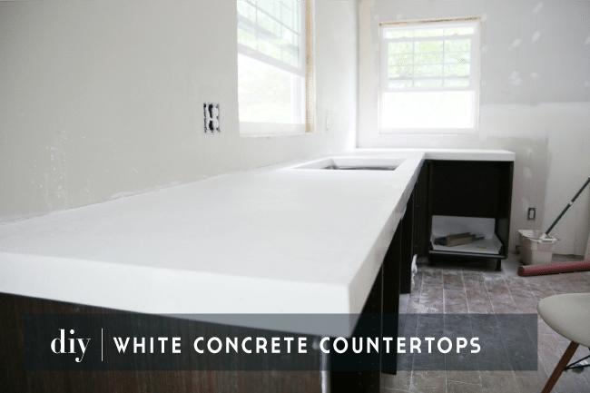 Diy White Concrete Countertops Chris