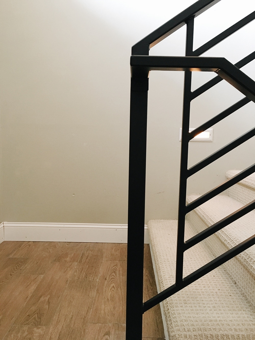 All The Details On Our New Horizontal Stair Railing Chris Loves | Wrought Iron Stair Railings Interior Cost | Wood | Cast Iron Spindles | Stair Spindles | Staircase Ideas | Iron Staircase Railings