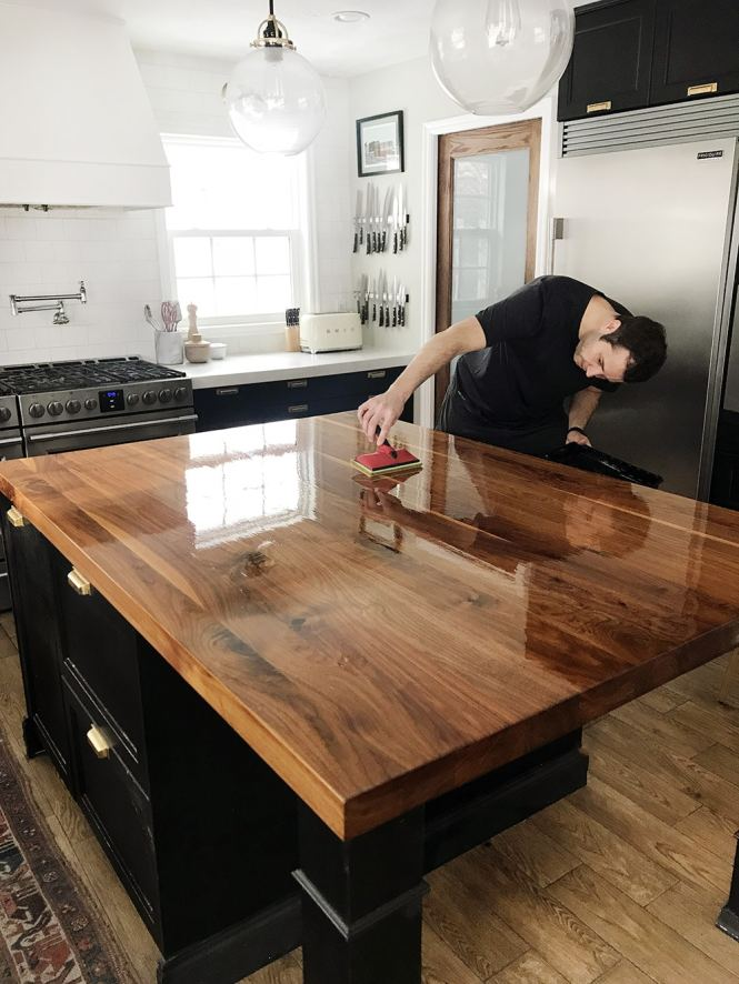Refinished Our Butcher Block Countertop