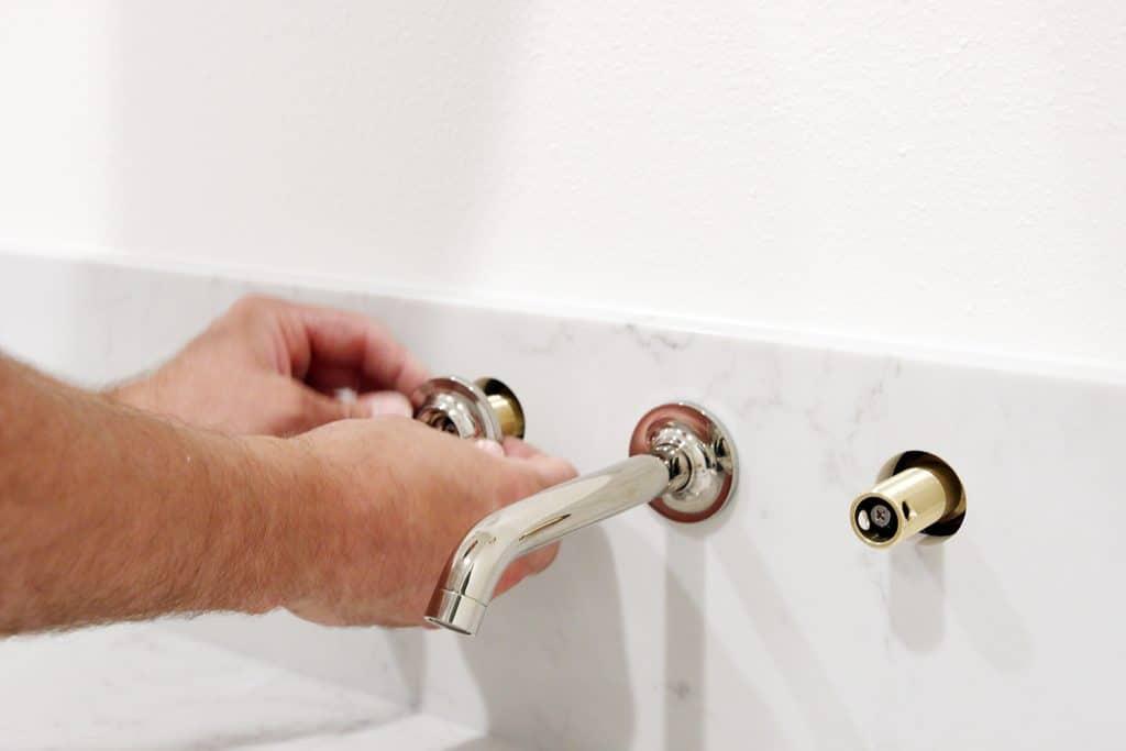 our undermount bathroom sink wall