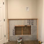 How To Diy A Built In Electric Fireplace Chris Loves Julia
