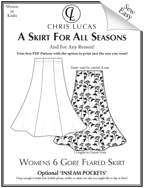 Chris Lucas Designs - A Skirt for All Seasons - PDF Sewing Pattern
