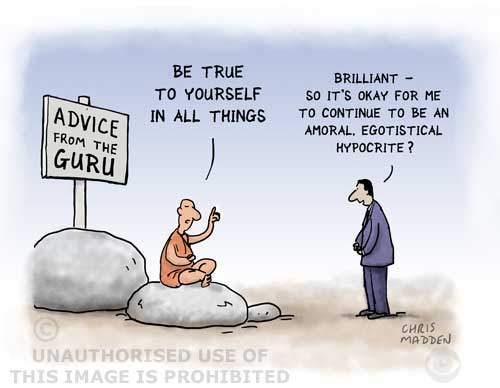 criticism of excessive self fulfilment - cartoon