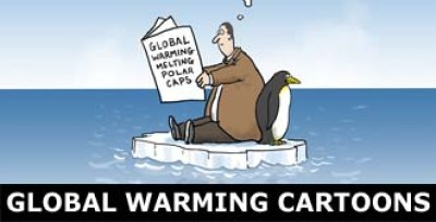 Global warming and climate change cartoons