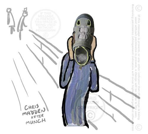 Munch scream - shoe montage