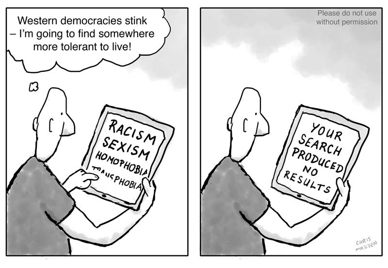 Western democracy tolerant cartoon