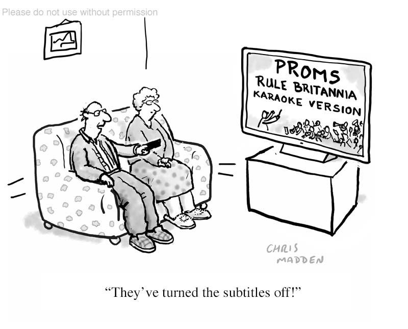 last night of the proms cartoon