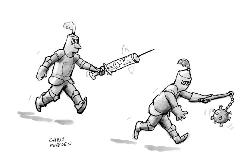 covid-19 vaccine cartoon