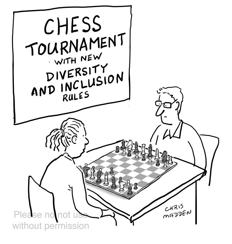 chess cartoon