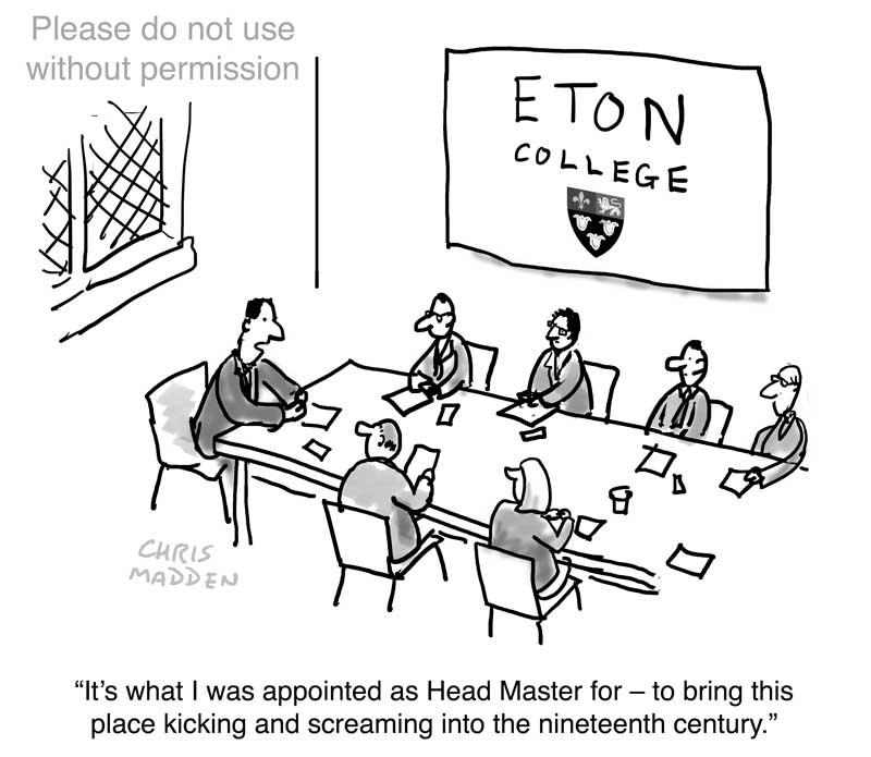 Eton tradition cartoon