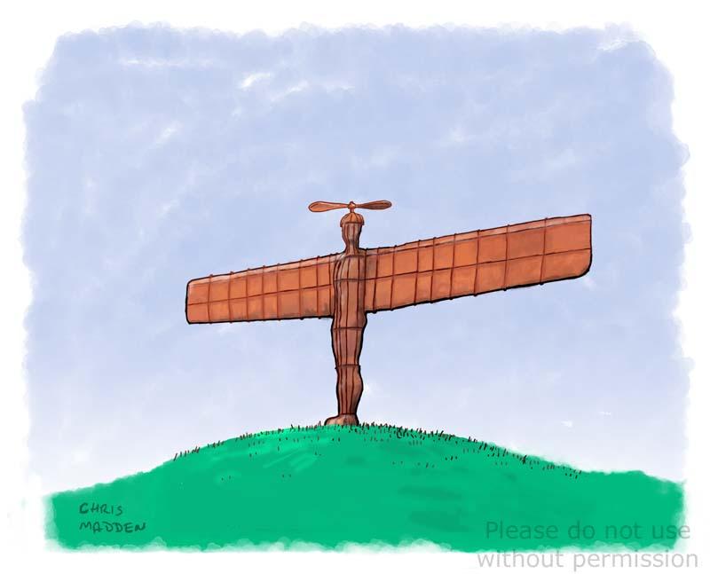 Gormley Angel of the North cartoon