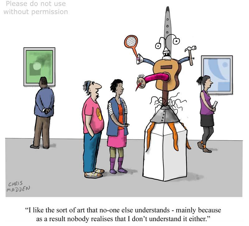 Understanding contemporary art – cartoon