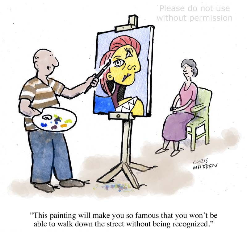 Picasso cartoon
