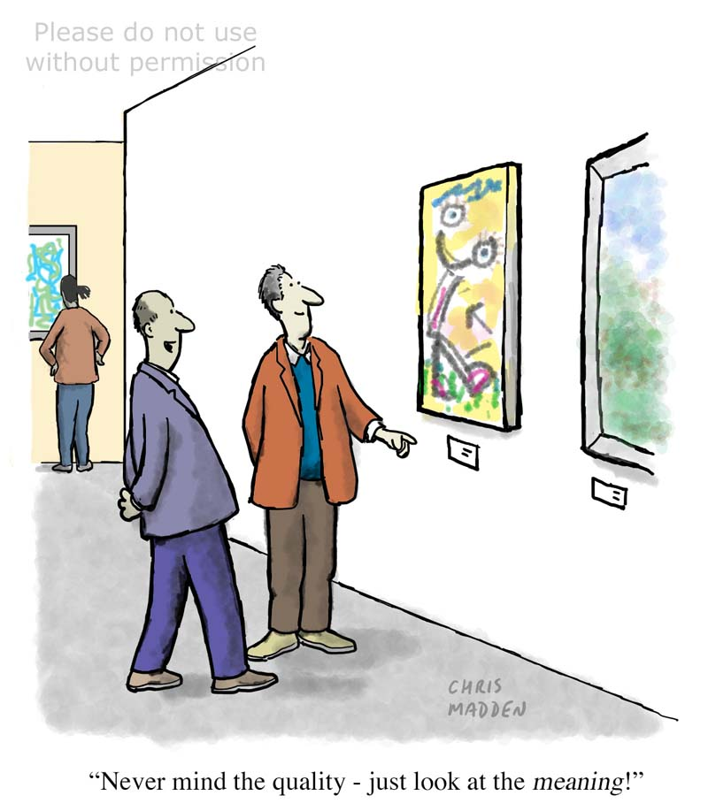 Contemporary art cartoon – meaning and quality