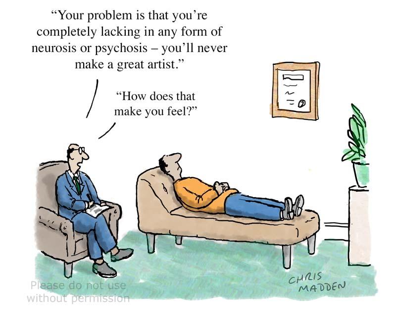 Cartoon about artistic temperament
