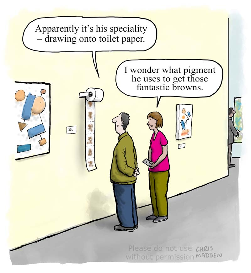 Abject art cartoon  – art relating to bodily functions